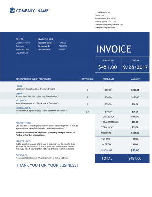 download excel invoice template